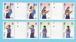 TUVALU PAIRES FILLES GUIDES SCOUTS MUSIQUE 1985 / MNH** / CM 44 - Scouting