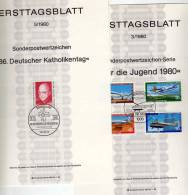 Jahrgang ETB 1980 Meteorologe Bis Stadtansichten Berlin 614-636 SST 18€ Burgen Geophysik Ersttag Document Set Of Germany - Timbres