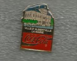 1 PIN´S JEUX OLYMPIQUES ALBERTVILLE 1992 COCA COLA VILLE D'ALBERTVILLE LA MAIRIE - Olympic Games