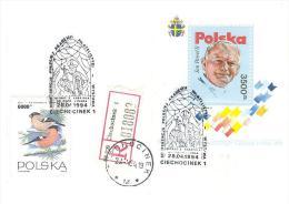 POLONIA - 1994 CIECHOCINEK  Vetrata Della Chiesa Dei SS.Pietro E Paolo Raffigurante Pope Papa GIOVANNI PAOLO II - Papas