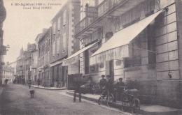CPA SAINT AGREVE ARDECHEGRAND HOTEL PORTE ANIMATION - Saint Agrève