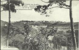 SAINT-BRIEUC , VU DE LA LIGNE DES DÉPARTEMENTAUX. (CACHET FRANCHISE MILITAIRE), SCAN R/V - Saint-Brieuc