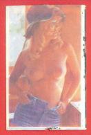 K77 / 1991 - A Beautiful Naked Woman  - Calendar Calendrier Kalender - Bulgaria Bulgarie Bulgarien - Calendari