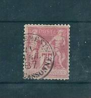 Type Sage  N°81 75ct Rose  Type 2  (n Sous U) Oblitéré ( Cote 150€ ) - 1876-1898 Sage (Type II)