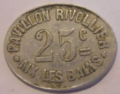Aix-les-bains 73 Pavillon Rivollier 25 Centimes Elie 35.2 - Monétaires / De Nécessité