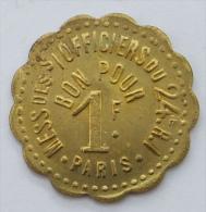 MILITAIRE MILITARIA Paris Rouen Bernay Laon Versailles 24ème Rég. D'infanterie 1 Franc VALEUR INEDITE - Monétaires / De Nécessité