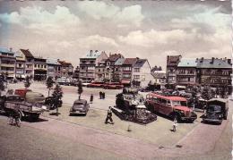 Bastogne Place Général-MacAuliffe Avec Le Tank Circulée En 1954 - Bastenaken