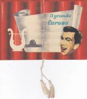 """CALENDARIETTO """"IL GRANDE CARUSO """" VITA DEL GRANDE TENORE NEL FILM DELLA M.G.M. CON MARIO LANZA     1955 -2-882-17603-602 - Calendriers"""