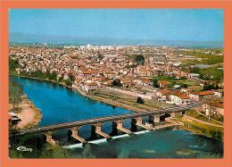 63 - PONT DU CHATEAU Vue Panoramique Aérienne Et Pont Sur L'Allier // CPM - Pont Du Chateau