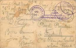 1916 Carte Postale Du Camp De Prisoniers De Guerre Lager Ohrdruf Pour La France Censurée - Allemagne