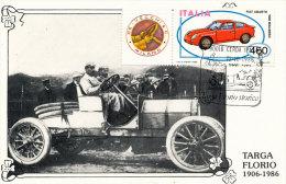 TARGA FLORIO 1906 IL VINCITORE A. CAGNO SU ITALA 1986 - Palermo