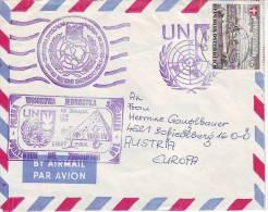 423l: UNO Wien, Feldpost- UN- Truppen, Dienstpost- Polish- Egypt Cachet - Airmail