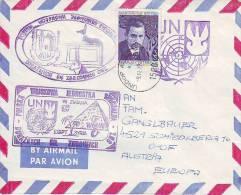 423h: UNO Wien, Feldpost- UN- Truppen, Dienstpost- Polish- Egypt Cachet - 1944-.... Republic