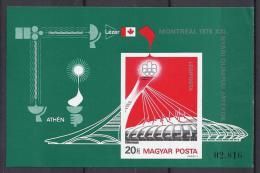 HUNGRÍA 1976 - Yvert #H125a Sin Dentar - MNH - Hojas Bloque