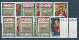 BURUNDI 1977 ISSUE COB 817/19 + PA484/86 + LABELS MNH - Burundi