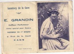 Calendrier De Poche 1928  E. GRANDIN  Coiffeur Parfumeur à Caen (14) - Calendriers