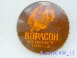Cartoon Film Soviet: Karlson / Old Soviet Badge USSR _250_u3255 - Disney