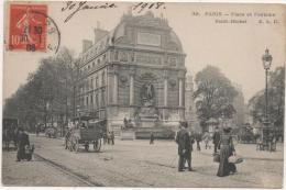 PARIS: PLACE ET FONTAINE SAINT MICHEL - France