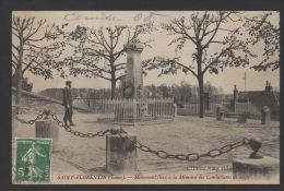 DF / 89 YONNE / SAINT-FLORENTIN / MONUMENT ÉLEVE A LA MÉMOIRE DES COMBATTANTS DE 1870 / CIRCULEE EN 1909 - Saint Florentin