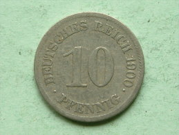 1900 E - 10 Pfennig / KM 12 ( Uncleaned - For Grade, Please See Photo ) ! - 10 Pfennig