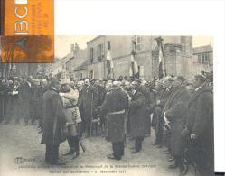 JARGEAU - Inauguration Du Monument De La Grande Guerre 1914-1918 -remise Des Décorations- 27 Novembre 1921 - Jargeau