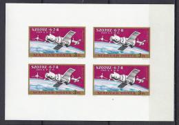 ESPACIO - HUNGRÍA 1970 - Yvert #A326 Minipliego Sin Dentar - MNH ** - Europa