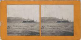S.I.P./ TOULON/ Un Cuirassé/    Vers 1905-1915  STE10 - Photos Stéréoscopiques
