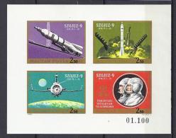 ESPACIO - HUNGRÍA 1970 - Yvert #A333/36 Sin Dentar - MNH ** - Espacio