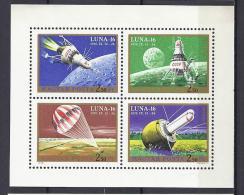ESPACIO - HUNGRÍA 1971 - Yvert #A337/40 - MNH ** - Europa