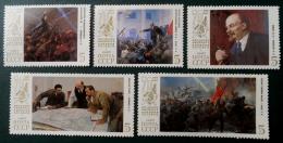 70 EME ANNIVERSAIRE DE LA REVOLUTION D´OCTOBRE 1987 - NEUFS ** - YT 5438/42 - MI 5748/52 - 1923-1991 USSR