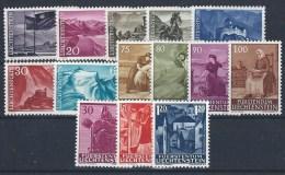 Liechtenstein, Yvert N° 342A/347D Et 370/2** - Liechtenstein