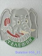 Cartoon Film Soviet: Telephone And Elephant (fairy Tale) / Old Soviet Badge USSR _250_u3284 - Disney