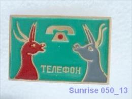 Cartoon Film Soviet: Telephone (fairy Tale) / Old Soviet Badge USSR _250_u3250 - Disney