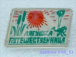 Cartoon Film Soviet: Frog-traveler (fairy Tales Russia)/ Old Soviet Badge USSR _250_u3260 - Disney