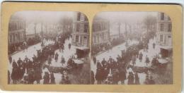Manifestation Patriotique 1 / Défilé De Chars / Artisanat Et Agriculture/Nevers ?/Vers 1900  STE15 - Photos Stéréoscopiques