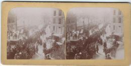 Manifestation Patriotique 2 / Défilé De Chars / Artisanat Et Agriculture/Nevers ?/Vers 1900  STE16 - Photos Stéréoscopiques