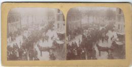 Manifestation Patriotique 3 / Défilé De Chars / Artisanat Et Agriculture/Nevers ?/Vers 1900  STE17 - Photos Stéréoscopiques