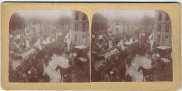 Manifestation Patriotique 4/ Défilé De Chars / Artisanat Et Agriculture/Nevers ?/Vers 1900  STE18 - Photos Stéréoscopiques