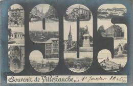 SOUVENIR DE VILLEFRANCHE  1905 - Souvenir De...