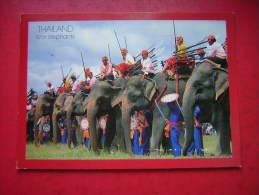 CPM  THAILANDE   THAILAND  WAR ELEPHANTS       VOYAGEE    TIMBRE - Tailandia