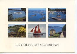 Golfe Du Morbihan  - Multivues Voilier  - Couleurs De Bretagne Jack - France