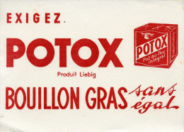 Buvard   Marque  Alimentaire  POTOX  Bouillon  Gras  Sans  égal - Collezioni & Lotti