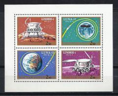 ESPACIO - HUNGRÍA 1971 - Yvert #A341/44 - MNH ** - Espacio