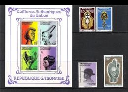 GABON - BL 4V (1981) + 1V (1989) + 2V (1966) + 1V (1973) - HAIRSTYLE / COIFFURES (**MNH) - Gabon (1960-...)