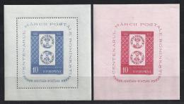 RUMANIA 1958 - Yvert #H41/42 - MLH * - Hojas Bloque