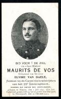 Doodsprent  Image  Mortuaire   WO1 NINOVE NIEUWPOORT 1914  SOLDAAT MILITAIR DE VOS - Documents Historiques