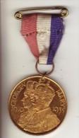 Médaille Commemorative Silver Jubilee George V & Mary 1910 1935 - Royaux/De Noblesse