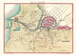 Danzig Gdansk Siege De Dantzig France Militaire Kupferstich ~ 1820 - Estampes & Gravures