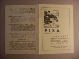 Programma Concorso Ippico Nazionale PISA 1936. Contessa Jolanda Calvi Di Bergolo - Programas