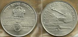 HUTT RIVER PROVINCE $5 CROWN FRONT DESERT STORM TANK BACK 1YEAR TYPE 1991 UNC KM.X33? READ DESCRIPTION CAREFULLY!! - Monnaies